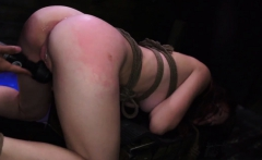 Teen got caught masturbating and brutal rough bondage She be