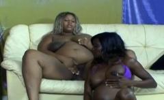 Black girls playing with dildo