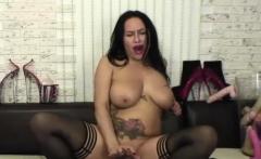 Sensual Busty Milf Fucks Her Dildo On Webcam