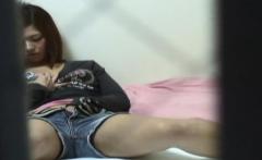 Asian teen seen rubbing