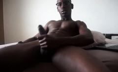 Ebony Boy River Wilson Stroking