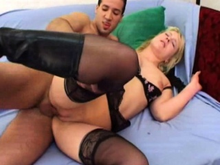Elodie gangbanged in stockings
