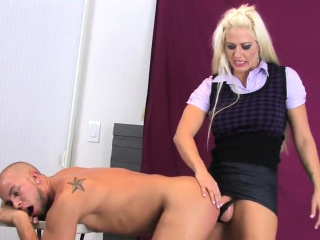 Sweeties fuck bfs asshole with oversized strap-ons and burst