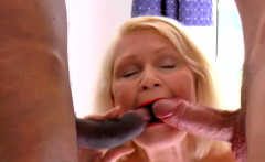 Chubby Granny Goes Wild In A 3some