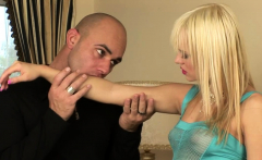 Blonde babe and her partner are passionately fucking