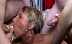 Old muff in a threesome with hubbys friend