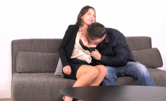 Busty euro orgasms while assfucked by cop