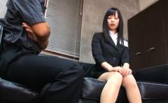 Breathtaking asian teacher bonks herself hard with a big toy