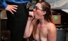LP officer screwed nerdy shoplifter pussy