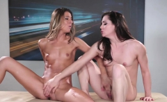 Kasey Warner and Tara Ashley hot lesbian massage sex