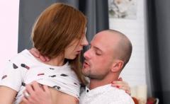 Redheaded Honey Slurps on Cock and Fucks