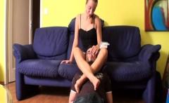 femdom ladies feeding slaves with their ear wax