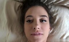 Hot Girlfriend Footjob With Creampie