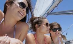Teens took turns sucking Captains pink torpedo