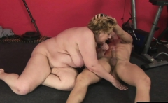 Big load of dick bangs a fat babe