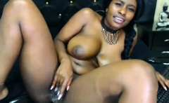Great Ebony with beautiful big boobs and her lover