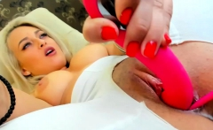 Sensual Blonde Fuck Her Fuckhole With Fake Dick