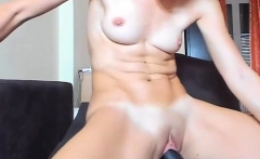 Brunette camgirl with vibrator in her pussy on webcam