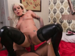 Trickery Joanna Angel tricks for dick on Halloween