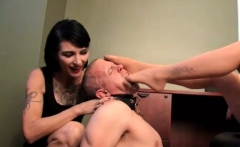 Gangbang with foot fetish spanking pouring wax