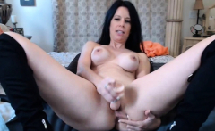 Perfect Brunette Uses Dildo On Cam Solo