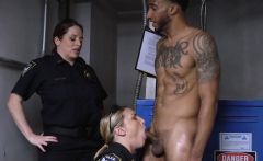 Bony criminal feeds his jizz loaded cock to milf cops