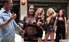 Fives gorgeous sluts gets banged hard