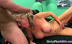 Mature Blonde Bitch Fucked by a Stud
