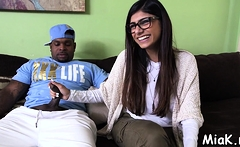 Shaft is in a exquisite latina brunette Mia Khalifa