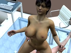 Busty Hentai Girl Hot Drilled By Furry Anime
