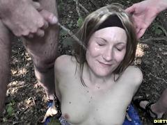 Hot Wife Nicole Pissed On By Plenty Of Men