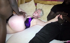 Cuckold Watch German Wife Fuck by BBC and Jerk while watch