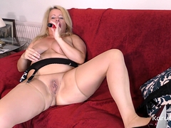 Bbw British Mature Amateur Erotica Ann Slowly Strips Naked