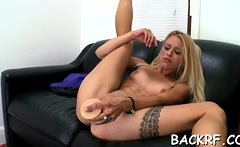 Adorable blonde Cameron Canada caressed and fucked