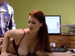 Loan4k. Buxom Ginger Is Fucked Hard At Casting Performed