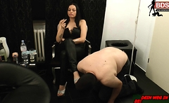 german slave spank for smoking femdom bdsm milf