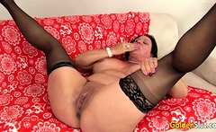Juicy Older Brunette Leylani Wood Eagerly Rides a Hard Cock