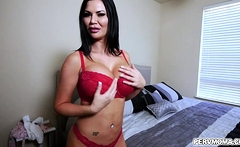 I surprised my hot big tits stepmom and she gets turned on