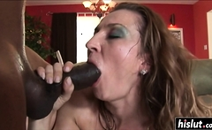 Black cock makes her moan loudly