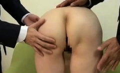 Japanese asian with hot ass fingered before sucking on dick