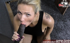 german amateur blonde milf first time pov with cum swallow