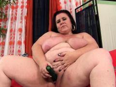Bbw Lady Lynn Fucks A Dildo And Vibrator