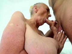 Huge 70plus Granny Tricks Hunk Into Fucking Her