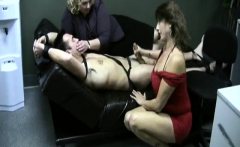 Mature femdom handjob cumshot