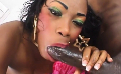 Intense fucking session with a horny black couple