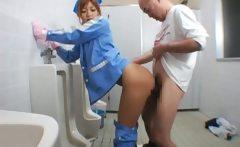 Beautiful maintenance worker