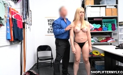 Sarah submits herself to the officer in charge to get fucked