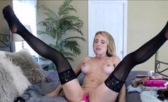 Thirsty Blonde MILF Masturbating 24h on Cams