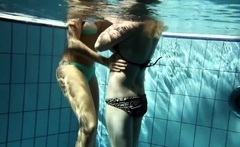 Zuzana and Lucie underwater swimming lesbos