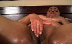Horny Latina BBW Oils Up Her Big Tits and Fat Ass